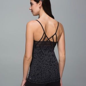 •LULULEMON• Just Breathe Tank Leopard size 8